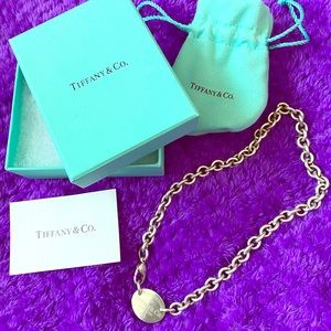 Authentic Tiffany&co oval chocker necklace